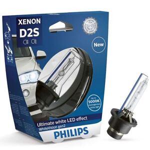 1x-Philips-D2S-35W-White-Vision-gen2-Xenon-120-mas-de-luz-85122WHV2S1