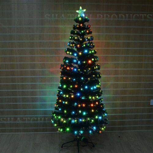 8ft  Digital LED Fibre Optic Christmas Tree Winter Holiday Home d�coration