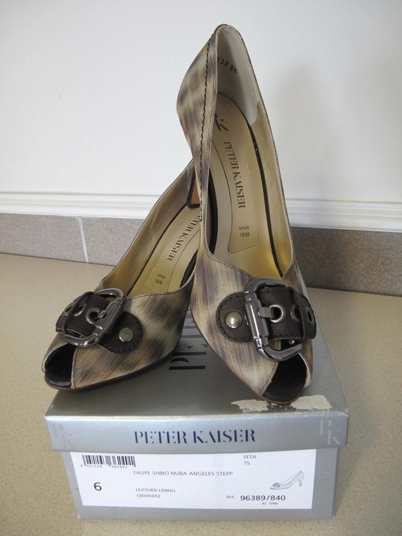 autentico online Donna  scarpe PETER KAISER Seta Buckle Pump sz sz sz 8.5 EU 6 New Box GERMANY  protezione post-vendita