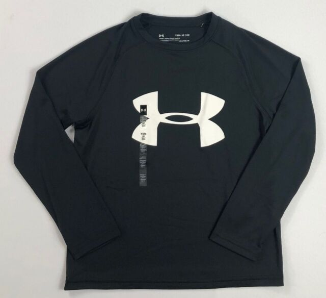 Boy/'s Youth Under Armour Heatgear Loose Fit Long Sleeve T-Shirt Size SM XL NWT