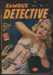 Famous-Detective-1949-November-Skeleton-cover-Pulp