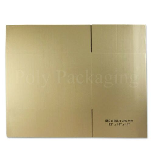"""575x356x356mm//22x14x14/""""DOUBLE WALL//LARGE Cardboard Removal Moving House Boxes"""