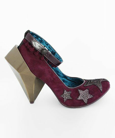 IRREGULAR POMS CHOICE 6.5 7.5 JUICY GOSSIP PURPLE FUNKY POM POMS IRREGULAR SUEDE HIGH WILD HEEL 926910