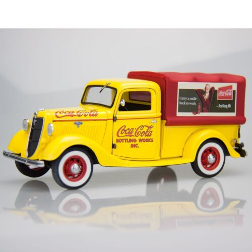Coca Cola Coke Danbury Mint 124 Die Cast 1935 CocaCola Delivery Truck Yellow