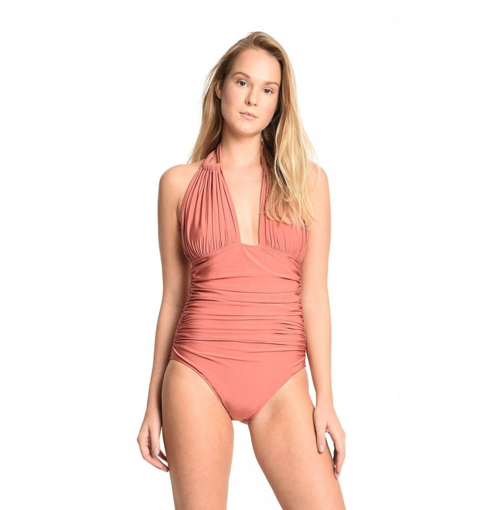 Lenny Niemeyer Maillot Adjustable Halter One-piece Swimsuit Mgoldcco Size S NWT