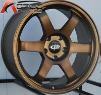 17x8 Rota Grid Wheels 5x100 +35 Bronze Rims Fits Brz Impreza Neon Tc Golf