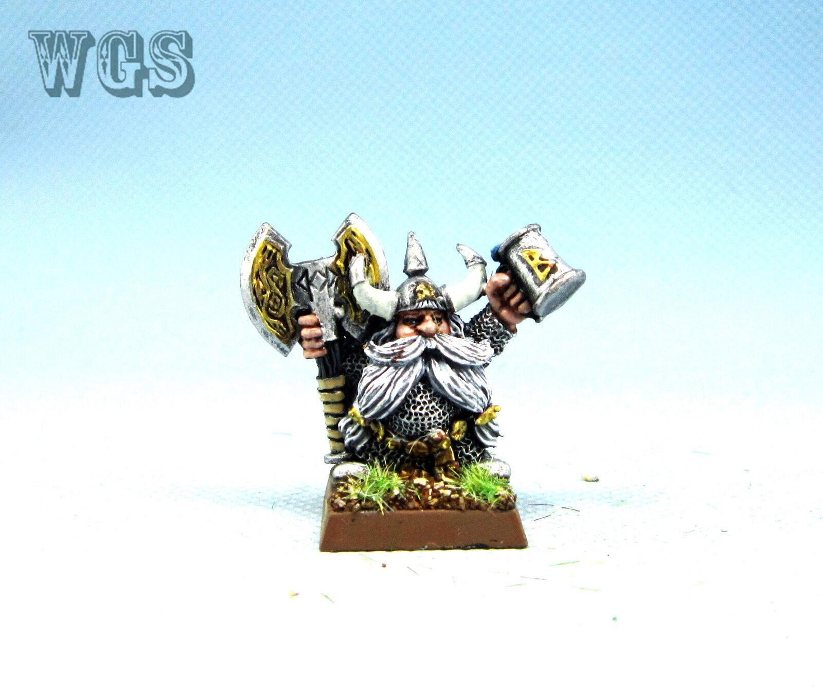 25mm Warhammer Fantasy WGS painted Dwarf Josef Bugman DW050