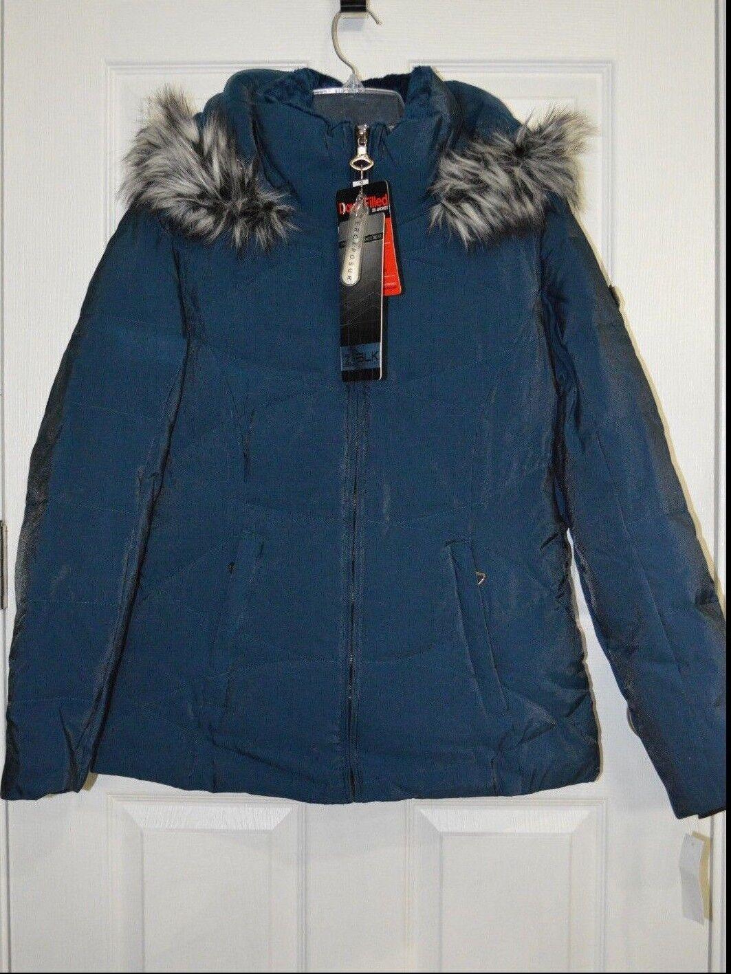 Femme ZeroXposur Dark Teal Down remplie d'hiver à capuche ZX veste-Taille M