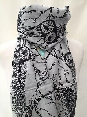 TILLY /& TED BROWN OWL SCARF NATURAL SISTER FRIEND MUM PRESENT GIFT BIRDS OWLS