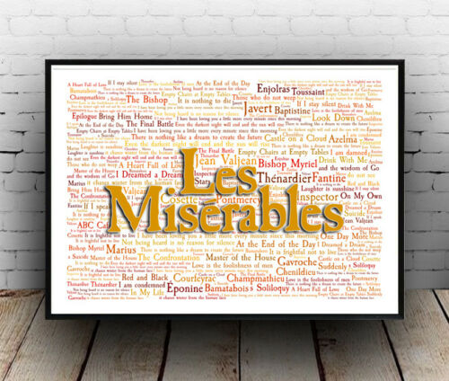 All Sizes Poster Wall Art Les Miserables Musical Poster Quotes Lyrics