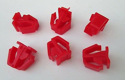 20 Pcs Red Nylon Molding Retainer Clip For Honda Accord 75329-SH4-013