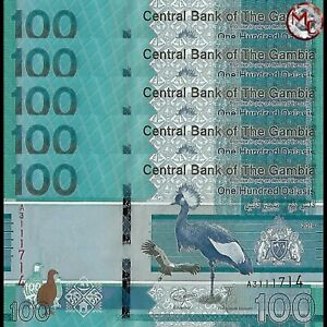 Gambia-100-Dalasis-2019-Pick-NEW-Set-5-PCS-UNC
