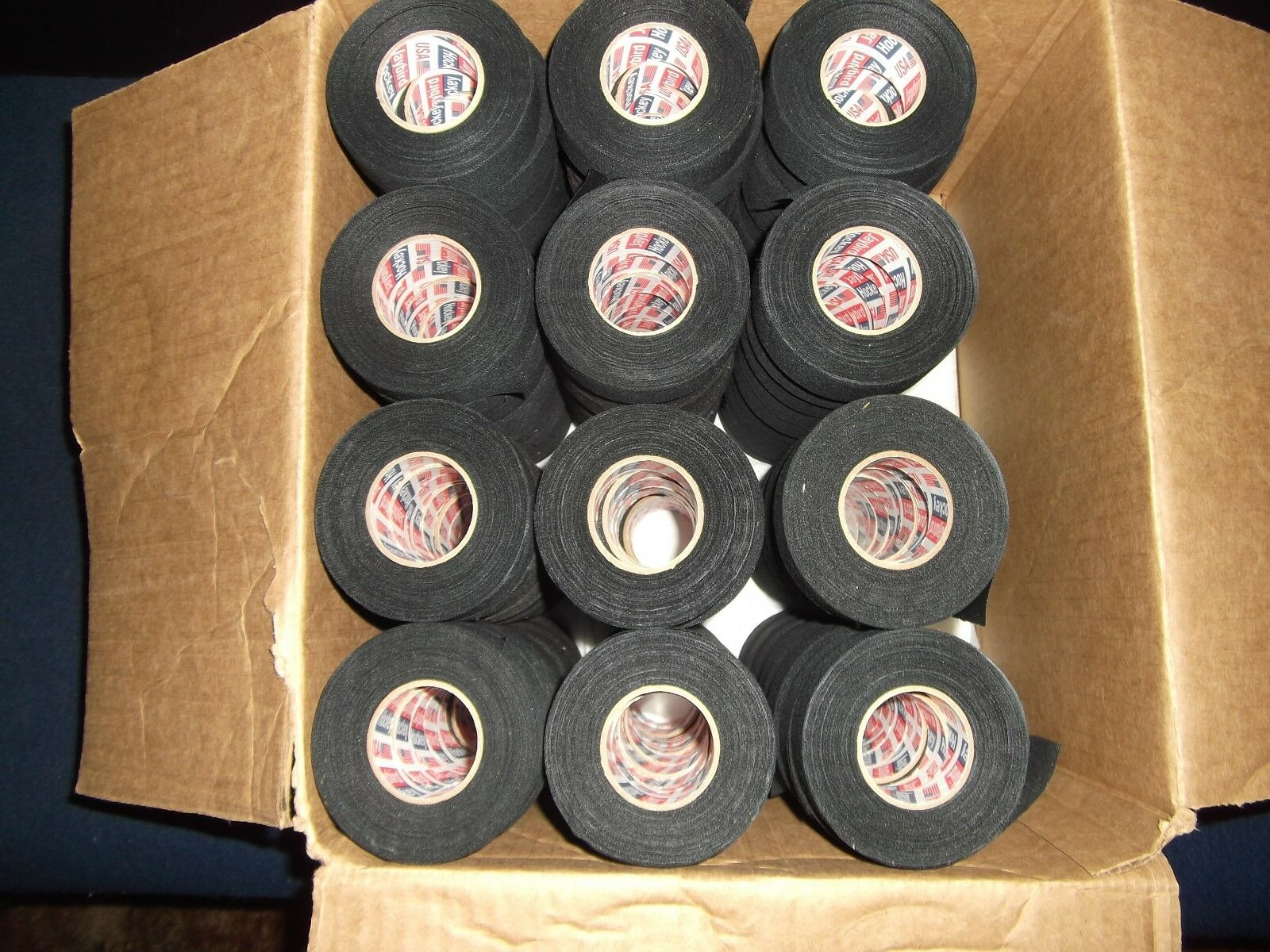 81 rollos de cinta de Béisbol Negra 1 x25yds.  primera Calidad