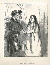 "Gavarni, Paul - ""le Manteau d 'Arlequin"" de ""Masques et rostros"" mostrarían 1853"