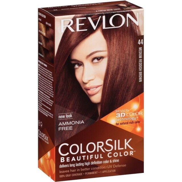 Buy Revlon Luxurious Colorsilk Color 44 Medium Reddish Brown 3d Hair