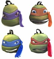 Teenage Mutant Ninja Turtles Red Orange Blue Purple Turtle Head Plush Backpack