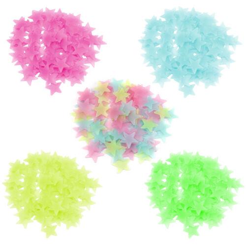 US 100X Glow Stars Dark Plastic Luminous Stars Stickers Ceiling Bedroom Art New
