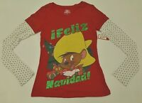 Looney Tunes Jr Womens Size S Or M Speedy Gonzales Ugly Christmas Party T Shirt