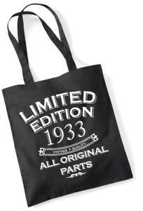 84th Geburtstagsgeschenk Tragetasche MAM Einkauf Limitierte Edition 1933 alle