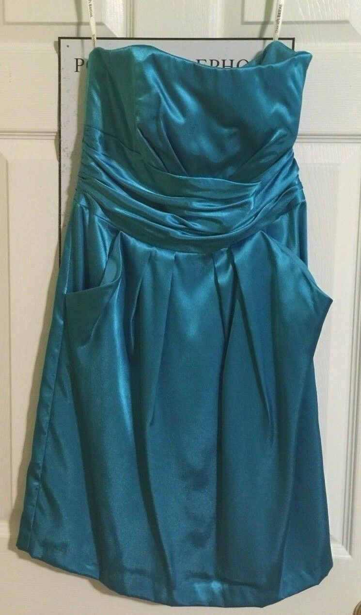 2acae1d31f2 ... David s Bridal Short Strapless Dress Turquoise bluee Size Size Size 6 (Wedding  Prom Formal) ...