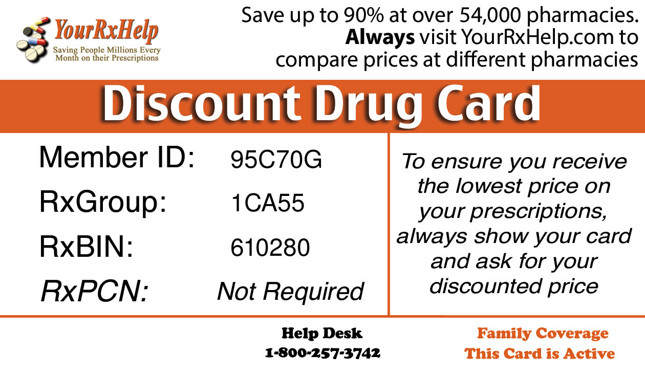 Pharmacy Discount Card - UP TO 90% OFF