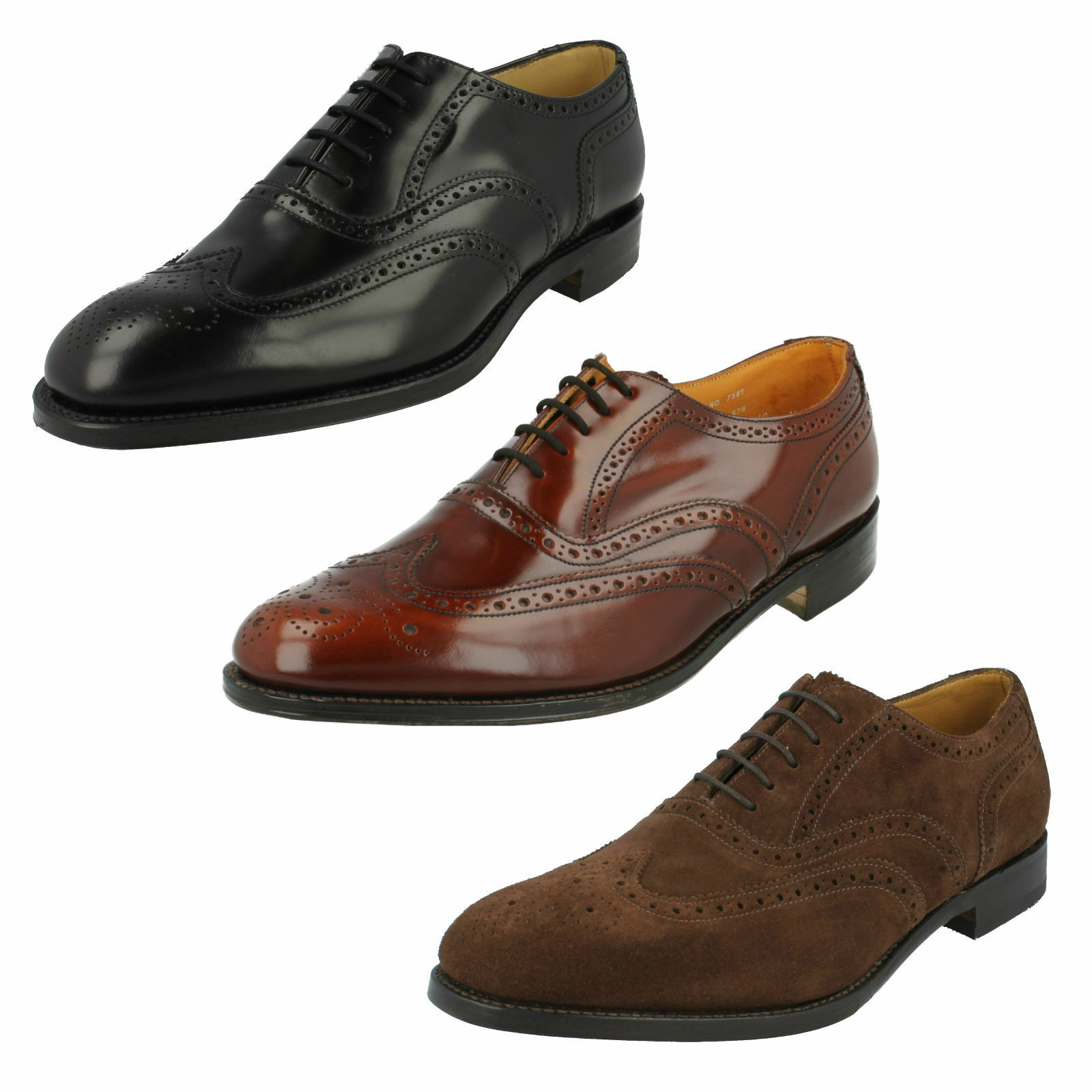 MENS LOAKE 758 POLIZIOTTO DI LEADER SMART WORK  SHOHE UK Dimensione 8  autentico