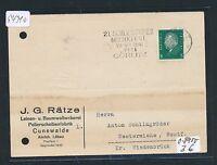 94310) DR 21.Schles. Musikfest ...Görlitz, Werbe-L4 Karte 1931, links gelocht