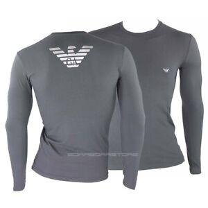 Emporio-Armani-T-shirt-uomo-manica-lunga-mod-111023-9a725-colore-grigio