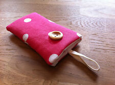 Handmade Padded Case for iPhone 6 / 6 Plus - Cath Kidston Red Spot Fabric