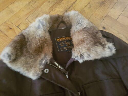 Woolrich RichBrosThermolite Donna nera M John Giacca Rex Fur Rabbit 4Rj35AqL