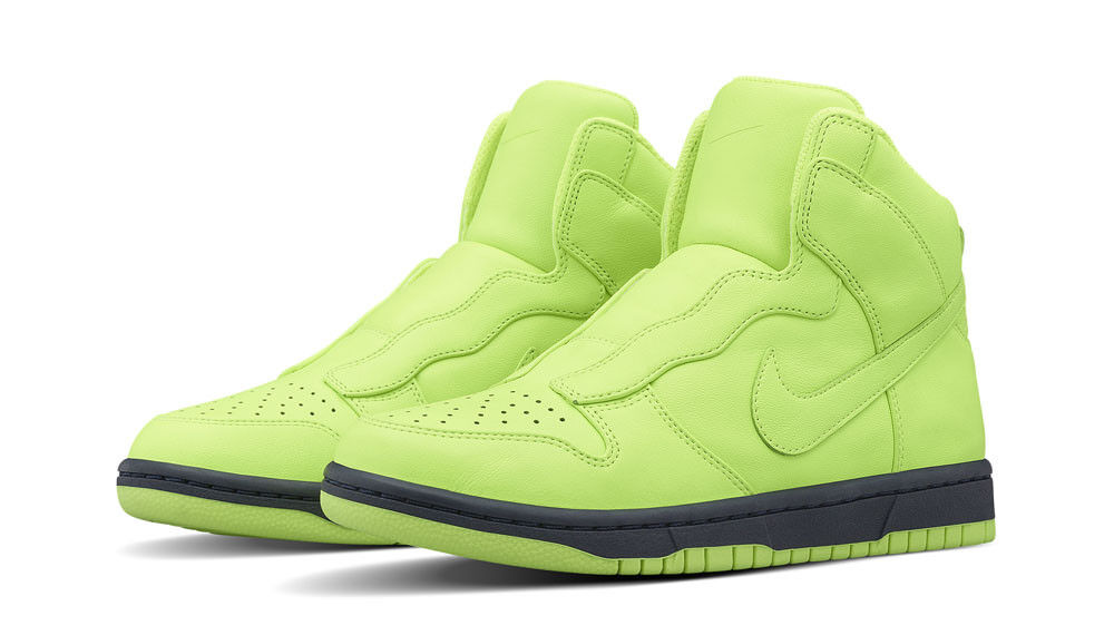 WOMEN'S Nike Dunk Lux SP/SACAI Shoe Size 7 (776446-774) VOLT/OBSIDIAN