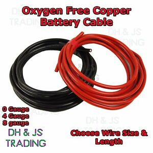 0-4-8-Gauge-Battery-Earth-Power-Cable-0AWG-4AWG-8AWG-Oxygen-Free-Copper-OFC-Wire