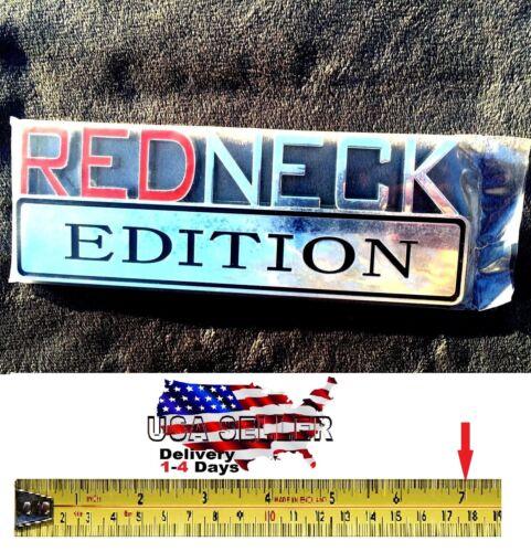 REDNECK EDITION Tailgate Emblem Car CHEVROLET TRUCK Bike SUV Logo DECAL RED NECK