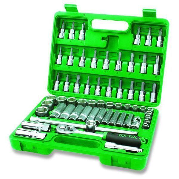Steckschlüsselsatz TOPTUL 3 8  12-kant 60 Stück