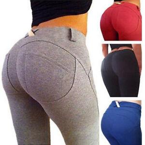 3b7cbe745a94a8 Sexy Women Butt Lift YOGA Pants Workout Sports Leggings Trousers ...