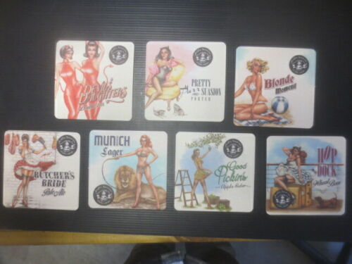 set of 7  CRAFTY BAVARIAN Micro Brewery,New South Wales BEER COASTERS