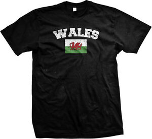 Wales Country Long Live Wales United Kingdom Cardiff Welsh Mens V-neck T-shirt