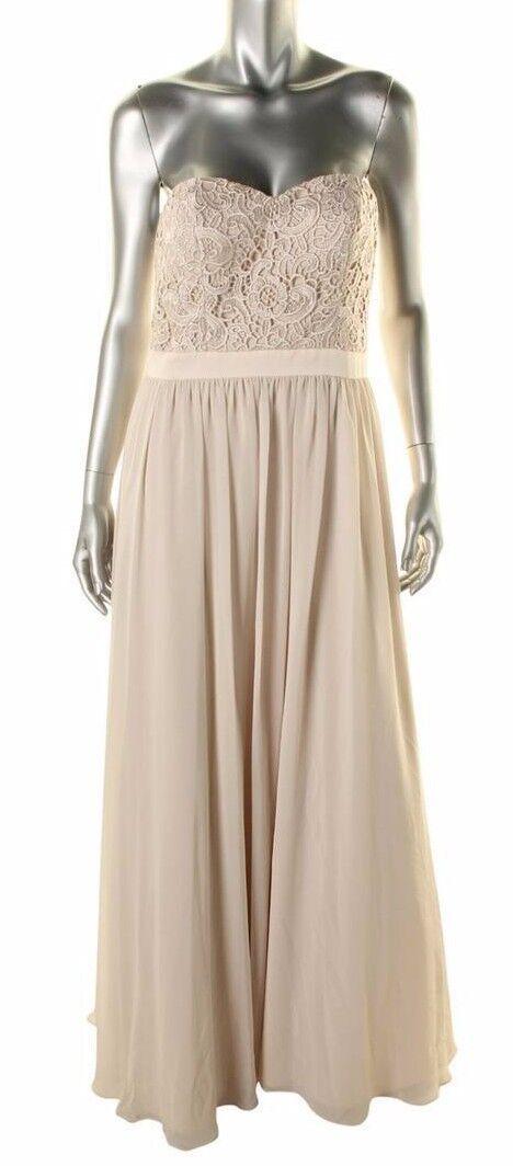 Aidan Mattox Womens Flutter Sleeves Beaded Formal Evening Dress Gown BHFO 4180