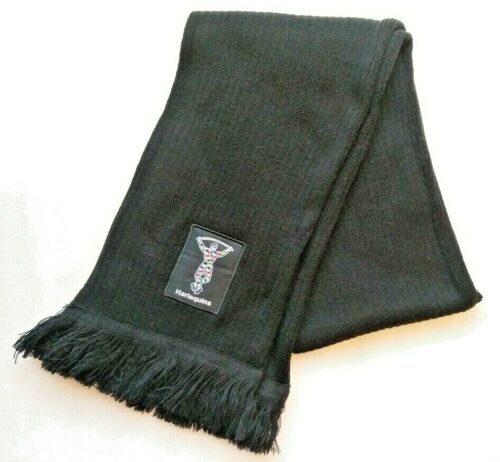 HARLEQUINS Rugby Tricot pompons noir écharpe NOËL//NEUF