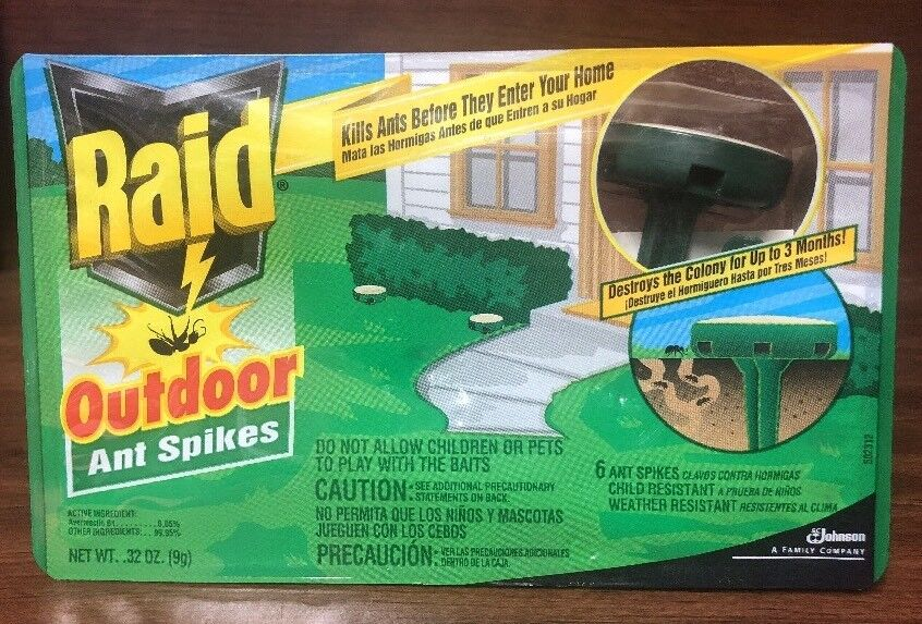 Raid Outdoor Ant Spikes 6 Ct For Sale Online Ebay
