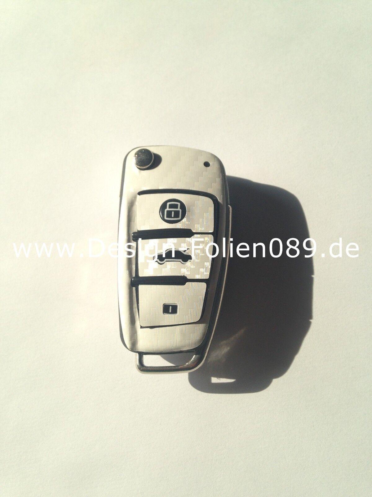 Carbon Lila Folie Dekor Schlüssel Audi TT A1 8J A6 A3 8p A4 4F S3 S4 B7 Q7 RS