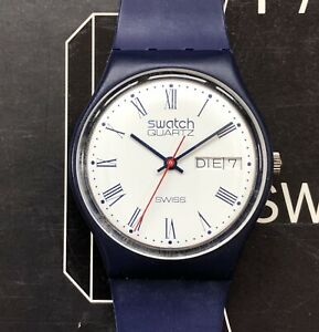 Swatch 1983, GN701, working, almost mint, original 7 hole strap