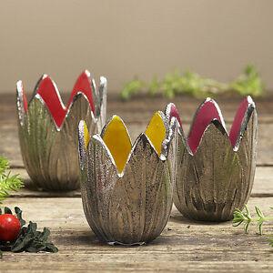 Das Bild Wird Geladen Windlicht Aluminium Tisch Dekoration  Wohnen Kerze Terrasse Garten