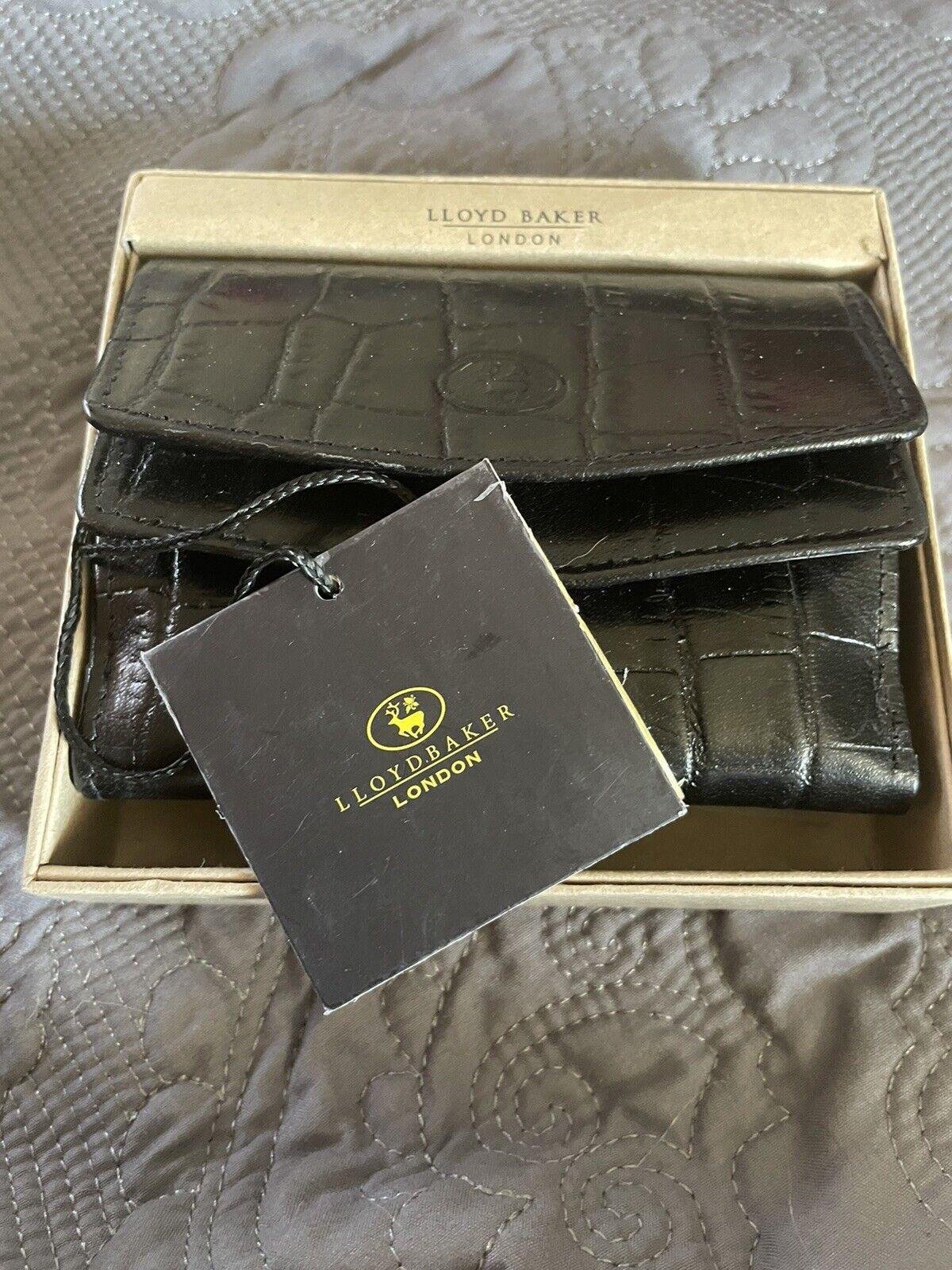 Lloyd Baker London Ladies Croc Effect Leather Purse, Black RRP