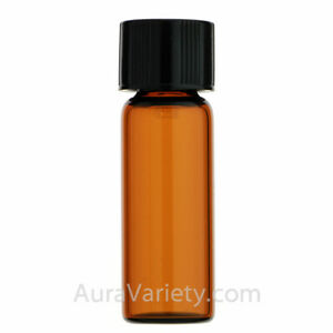 7ce22c89d200 Details about MADE IN USA 1/2 DRAM 2 ml AMBER GLASS TALL VIAL - OIL SAMPLE  BOTTLE 12 24 72 144