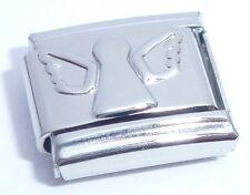 SILVER ANGEL Italian Charm - 9mm fits Classic Starter Bracelets Wings Fairy N219