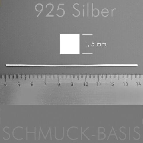 1,5 MM Massif Argent 925; tête carrée 10 CM argent plume