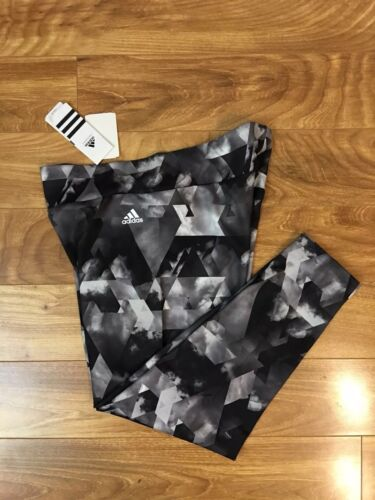 Multicolor Running Xl 88 Nwt stampati Yoga Adidas Donna Climalite Black Leggings qCHaIzw