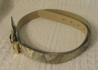 Womens Style & Co. Gold And Tan Synthetic Material Belt, Medium,