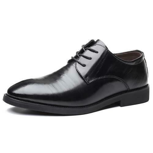 Details about  /Mens Pointy Toe Wedding Party Lace up Club Low Top Faux Leather Business Shoes L